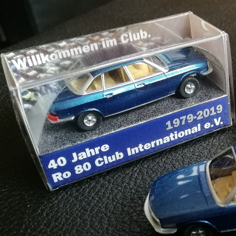 "Wiking Sondermodell  ""40 Jahre Ro 80 Club International e.V."""
